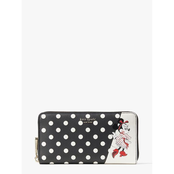 disney x kate spade new york minnie mouse zip around continental wallet