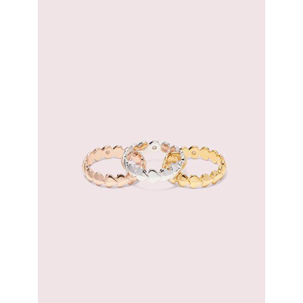 heritage spade heart ring set, metal multi, hi-res