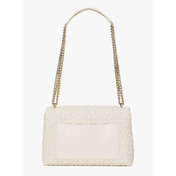 bloom large flap shoulder bag, powder, hi-res