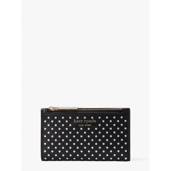 spencer metallic dot small slim bifold wallet