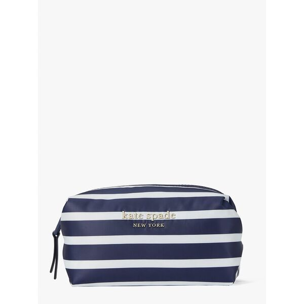 everything puffy stripes medium cosmetic case