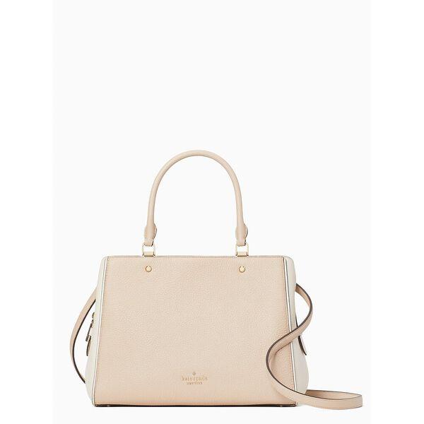 leila colorblock medium triple compartment satchel