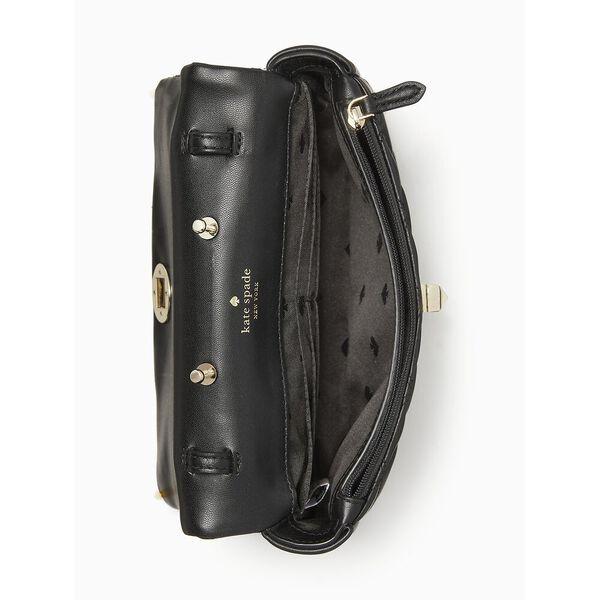 natalia flap turnlock crossbody, black, hi-res