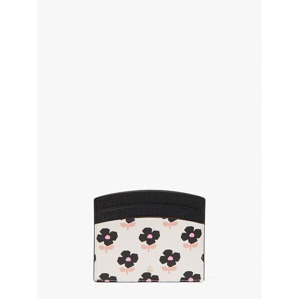 spencer block print floral cardholder, parchment multi, hi-res