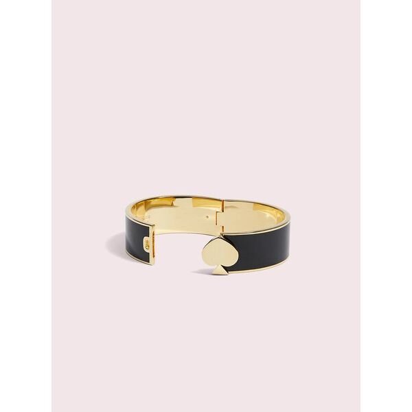 heritage spade bangle, black, hi-res