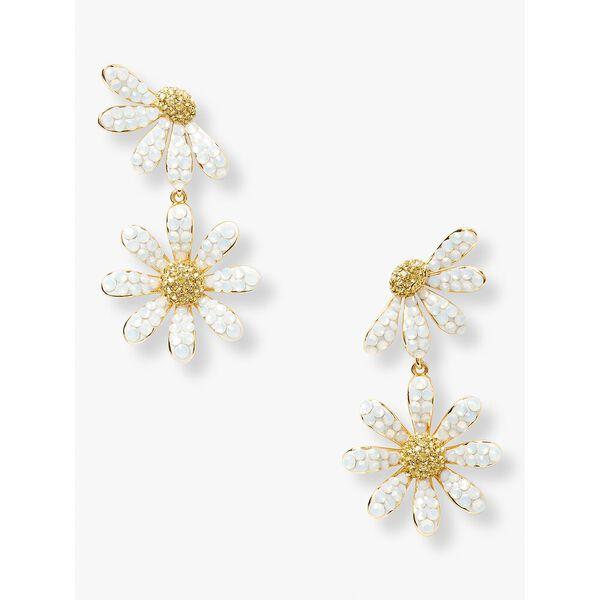 dazzling daisy drop earrings