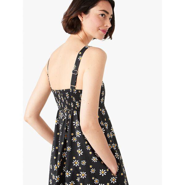 daisy dots al fresco midi dress, black, hi-res