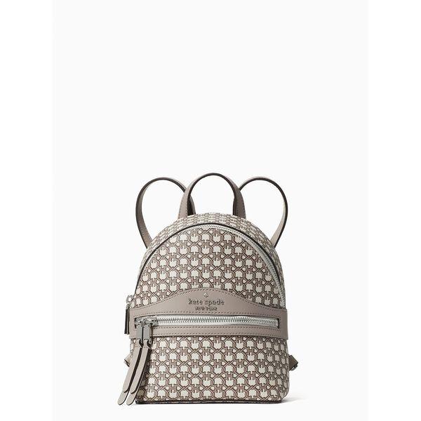 spade link mini convertible backpack, white multi, hi-res