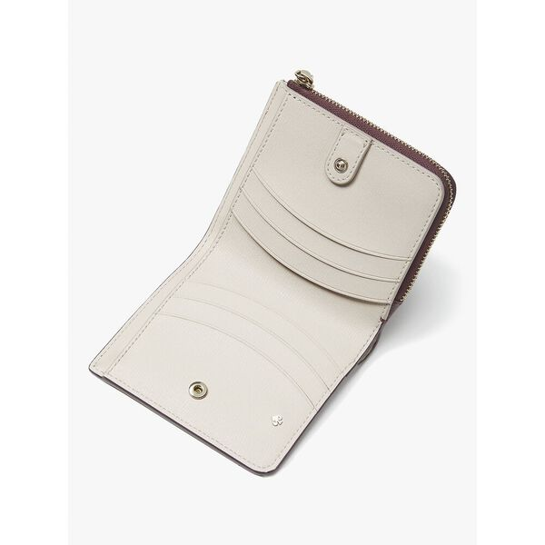 margaux small bifold wallet, DEEP CHERRY, hi-res