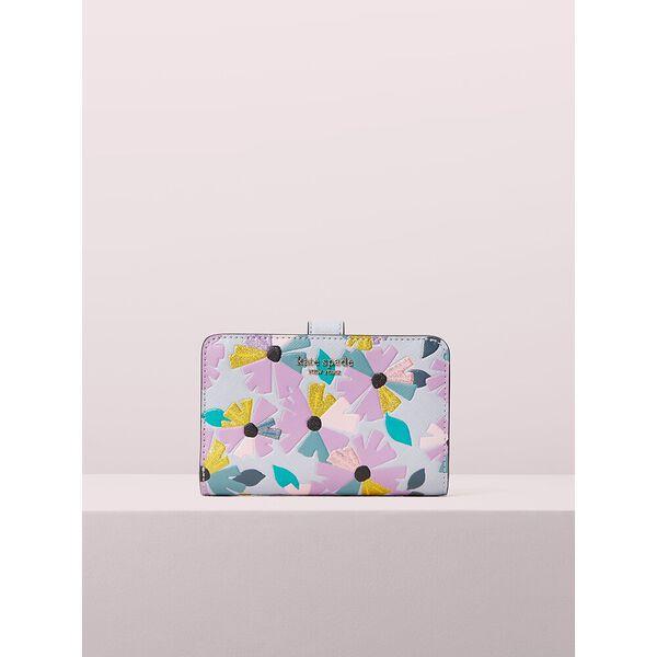 spencer glitter wallflower compact wallet