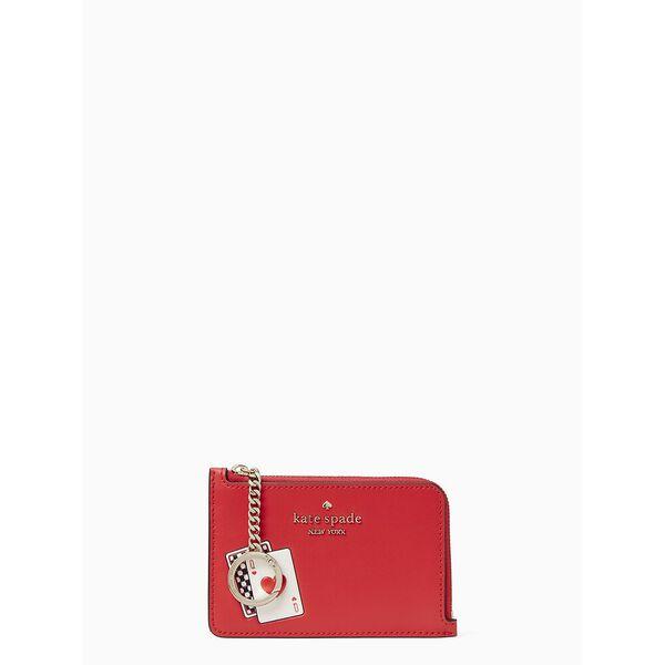 lucky draw medium l-zip card holder, multi, hi-res