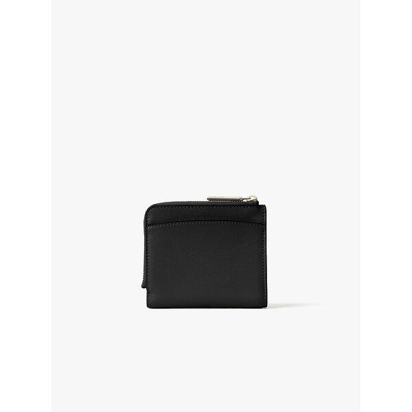 spencer small bifold wallet, black, hi-res