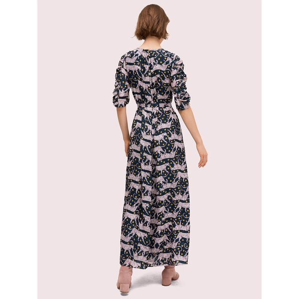 panther dot midi dress, hot springs, hi-res