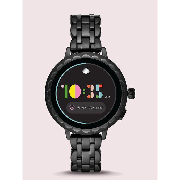 black stainless steel scallop smartwatch 2