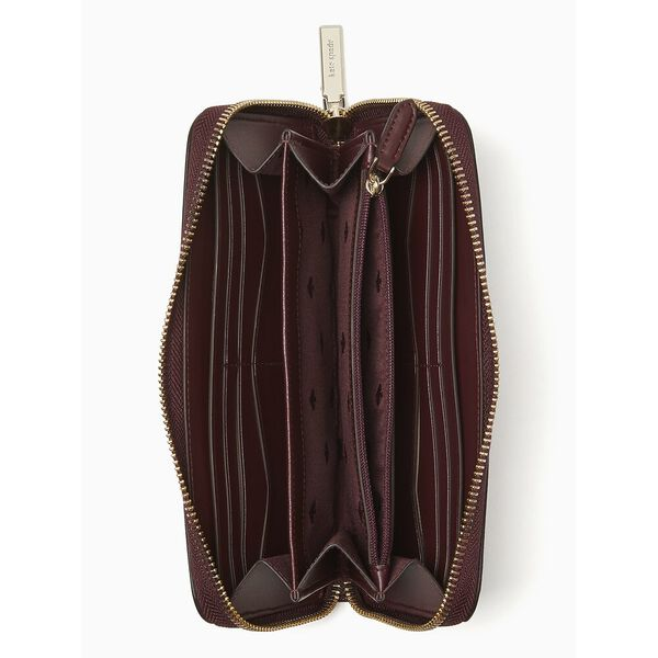 staci large continental wallet, cherry wood, hi-res