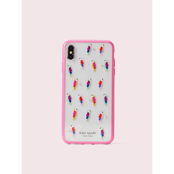 jeweled flock party iphone xs max case, multi, hi-res