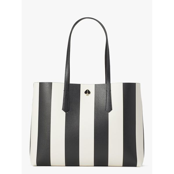 molly stripe large tote