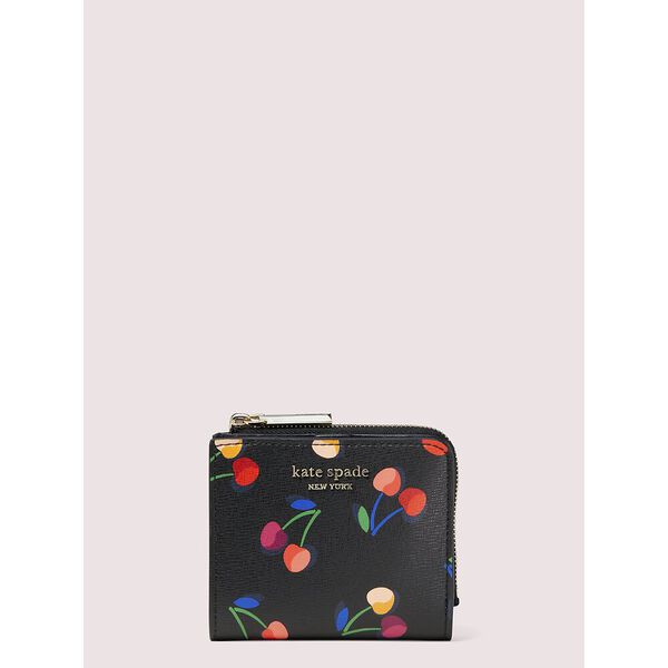 spencer cherries small bifold wallet, BLACK MULTI, hi-res