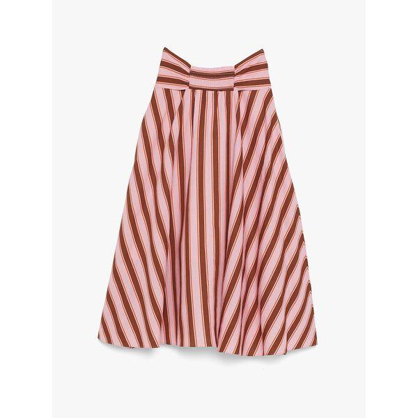 calais stripe skirt, ROSY CARNATION, hi-res
