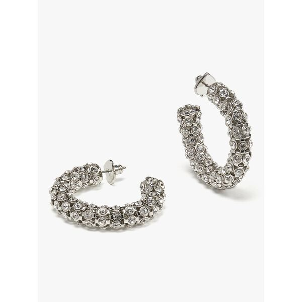 adore-ables hoops, clear/silver, hi-res