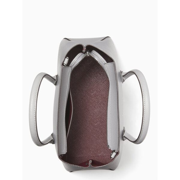 eva small top zip satchel, nimbus grey, hi-res