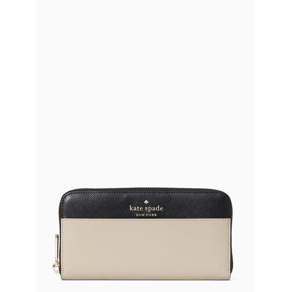 staci colorblock large continental wallet, warm beige multi, hi-res