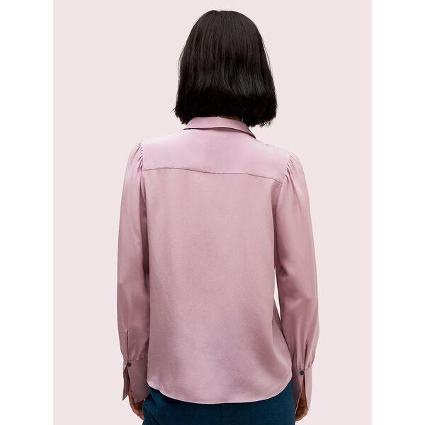 silk point collar blouse, purple shade, hi-res