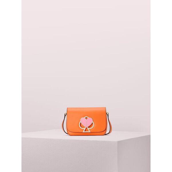 nicola bicolor small flap shoulder bag