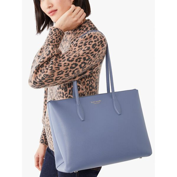 all day large zip-top tote, new navy, hi-res