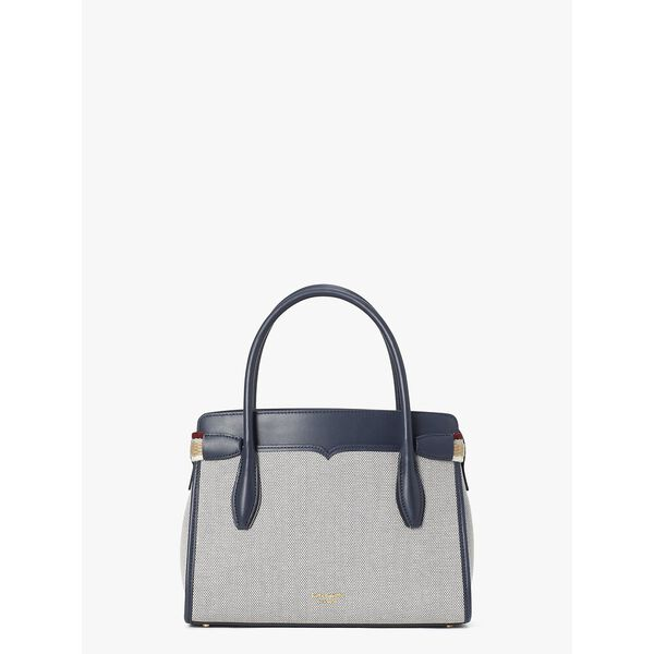 toujours canvas medium satchel, BLAZER BLUE, hi-res