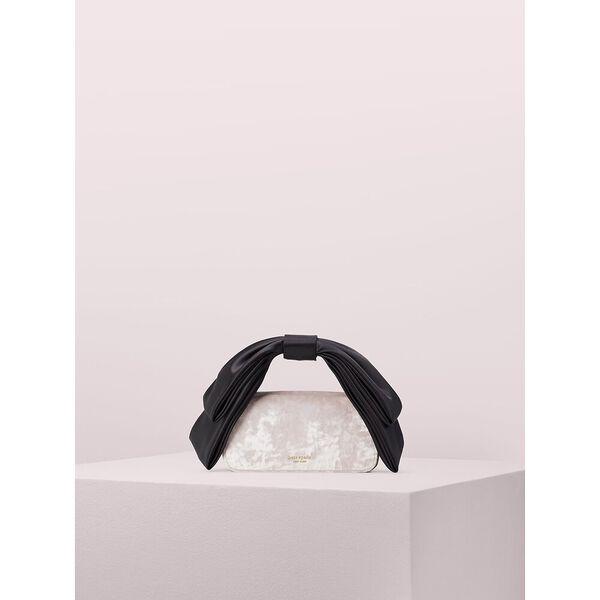 bowie velvet mini top handle bag