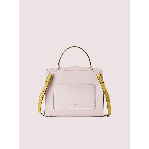 romy intarsia medium satchel, tutu pink multi, hi-res
