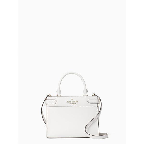 staci small satchel, white dove, hi-res