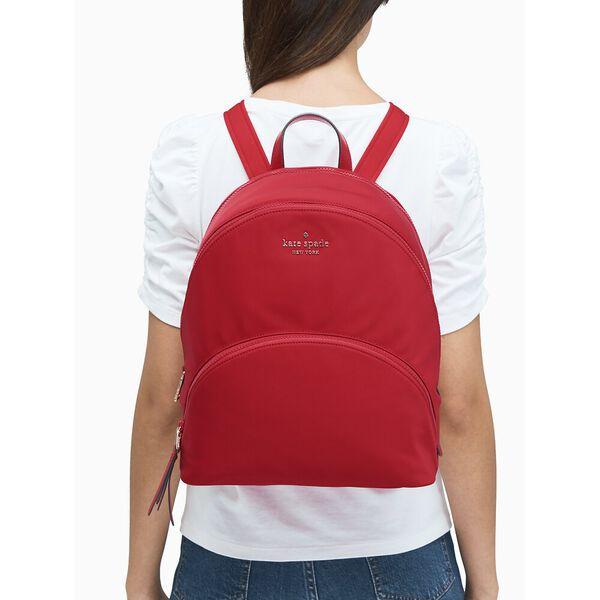 karissa nylon large backpack, favorite red, hi-res