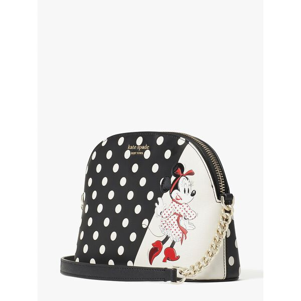 disney x kate spade new york minnie mouse small dome crossbody, black multi, hi-res