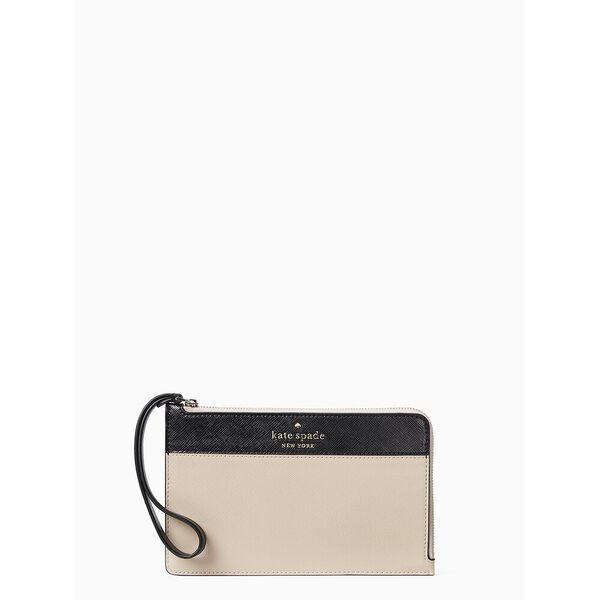 staci colorblock medium l-zip wristlet