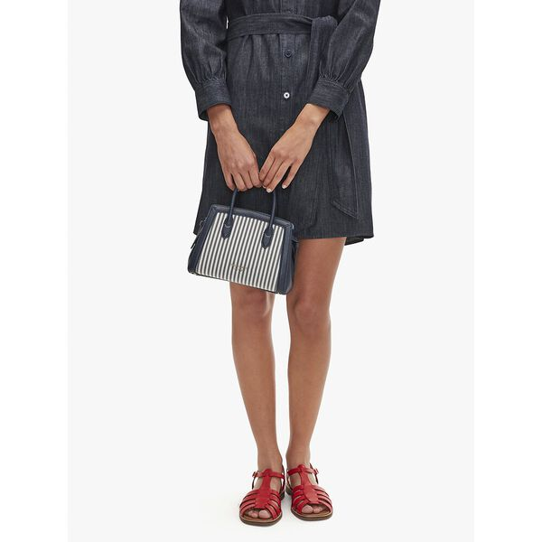 knott stripe mini satchel, blazer blue multi, hi-res
