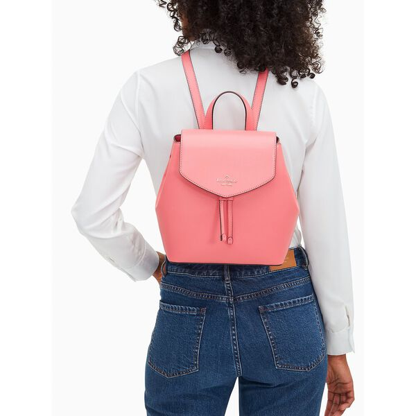 lizzie medium flap backpack, garden pink, hi-res