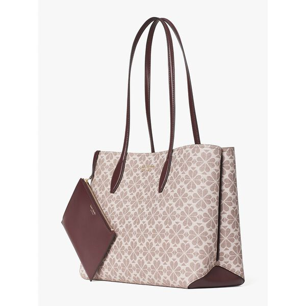 spade flower coated canvas all day large tote, PINK MULTI, hi-res
