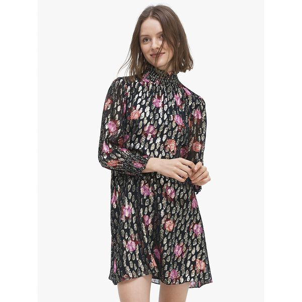 rose garden smocked shift dress