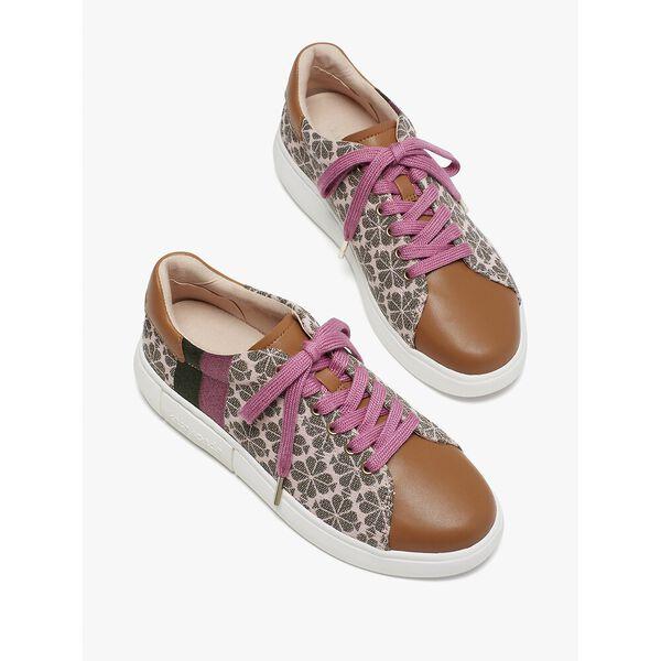 keswick spade flower jacquard sneakers, light pink/hibisc tea, hi-res
