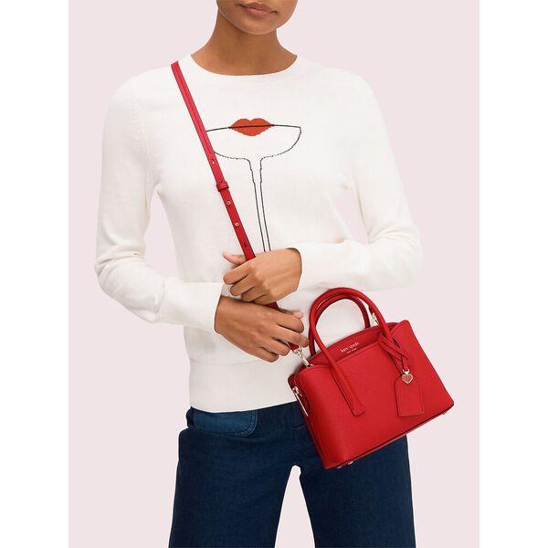 margaux mini satchel, hot chili, hi-res