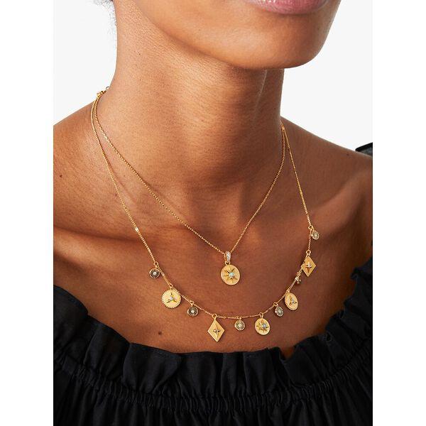 my medallion mini pendant, gold pltd, hi-res