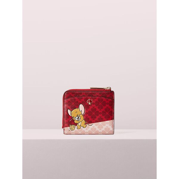 kate spade new york x tom & jerry small bifold wallet