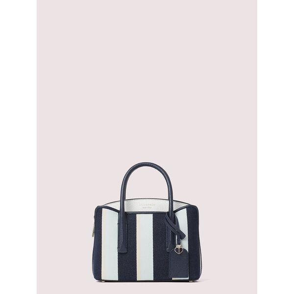 margaux canvas stripe mini satchel