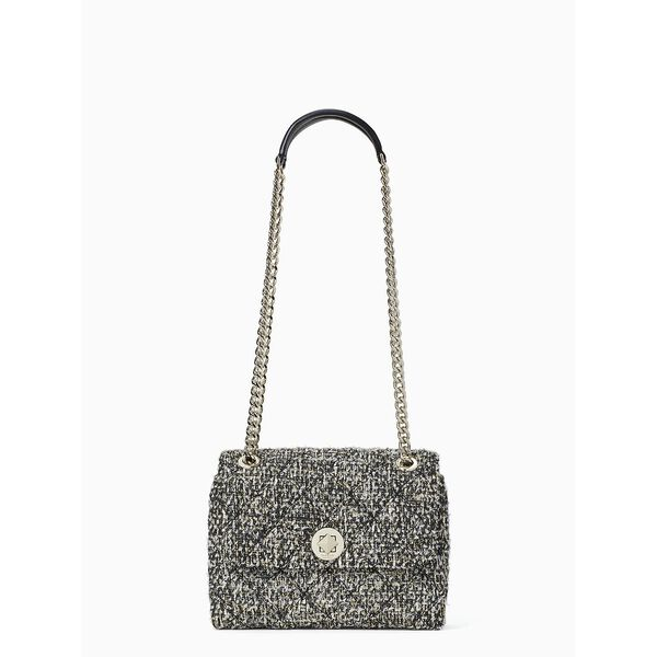 natalia tweed small flap crossbody