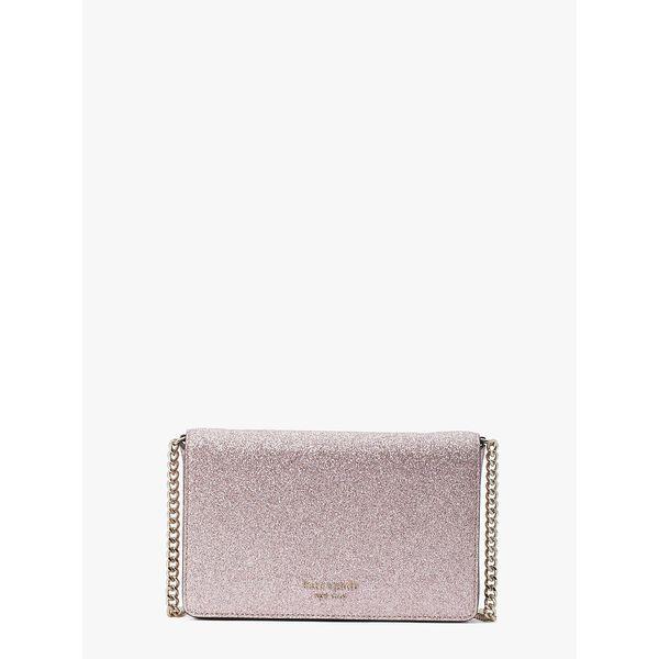 spencer glitter chain wallet