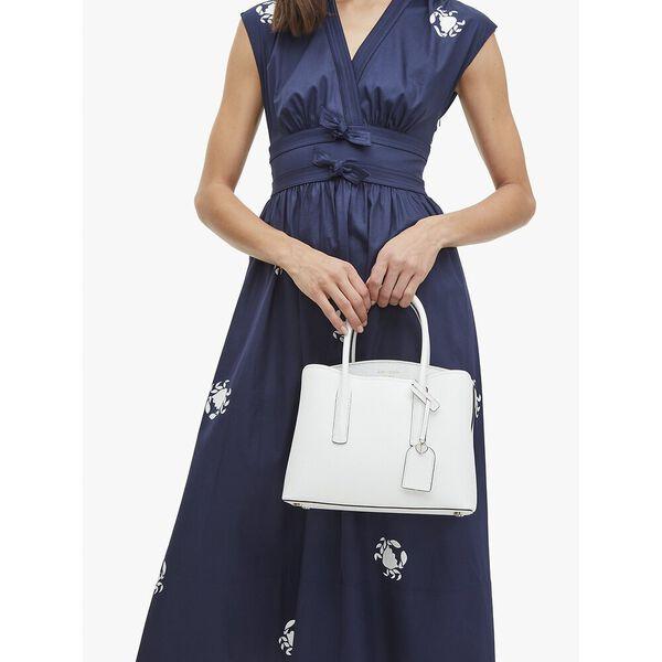 margaux medium satchel, optic white, hi-res