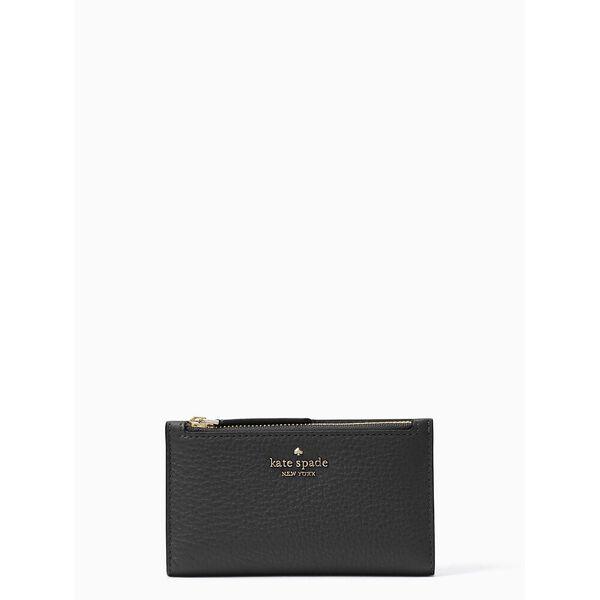 jackson small slim bifold wallet, black, hi-res