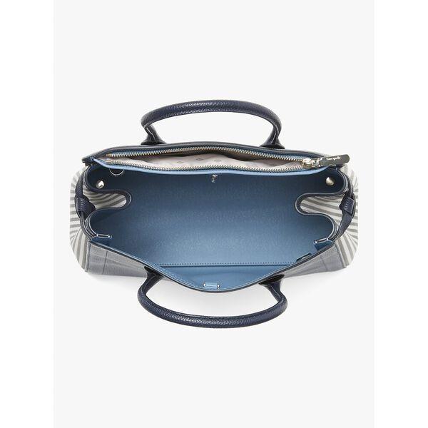 knott stripe large satchel, blazer blue multi, hi-res